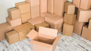 maison sous cartons