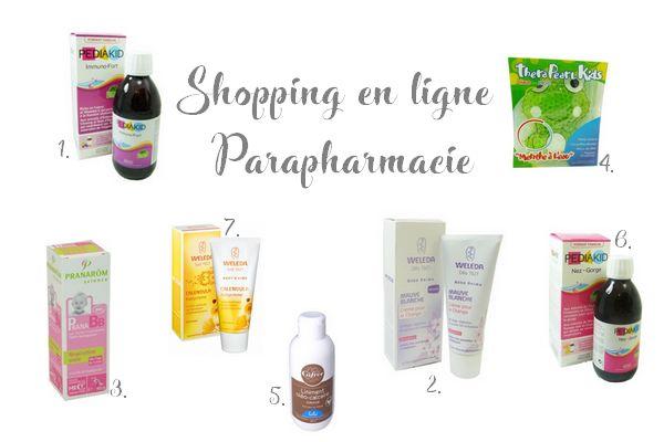 Mon shopping à la parapharmacie